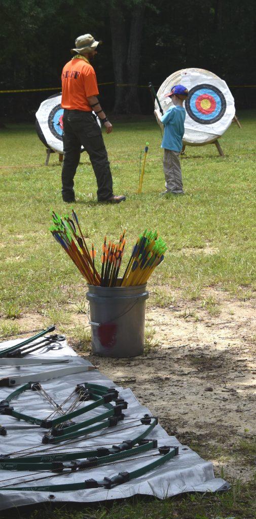 boy on archery range